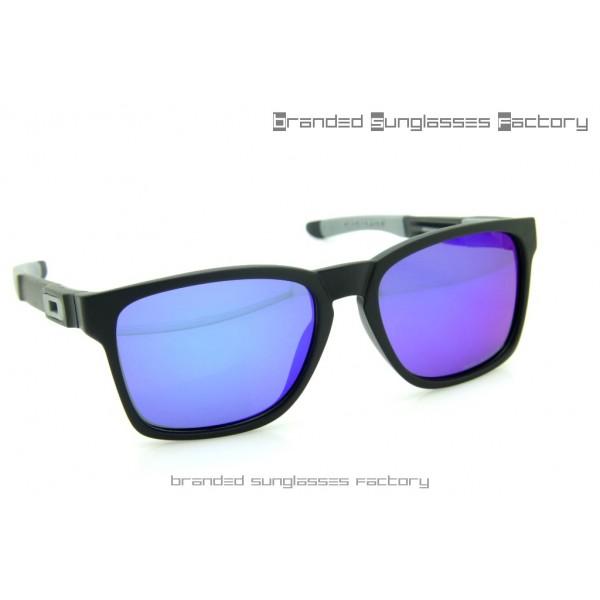 Fake Oakley Catalyst Sunglasses Matte Black Frame Purple Iridium Lens