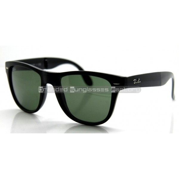 7e236547fb76 Fake Ray Ban Folding Wayfarer RB4105/601 54MM Sunglasses Black Frame ...