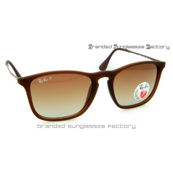 b36f6085ab Fake Ray Ban RB4187 Chris 868 13 59MM Polarized Sunglasses Brown ...