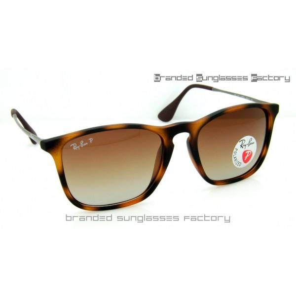 c5f2b4b3c5 Fake Ray Ban RB4187 Chris 965 13 59MM Polarized Sunglasses Havana ...
