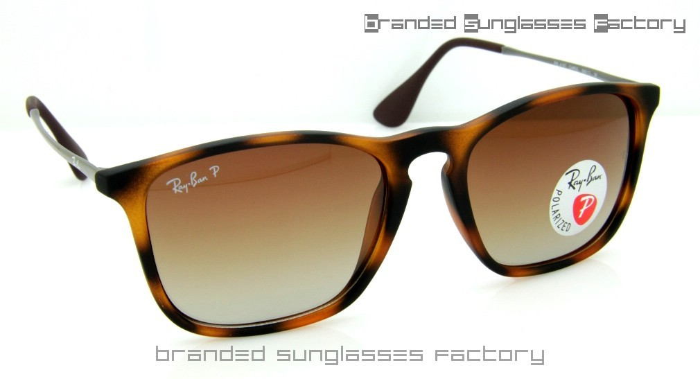 b0c3babcc1 Fake Ray Ban RB4187 Chris 965 13 59MM Polarized Sunglasses Havana Brown  Frame Brown Gradient Lens
