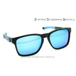 Oakley Catalyst Sunglasses Matte Black Frame Blue Iridium Lens