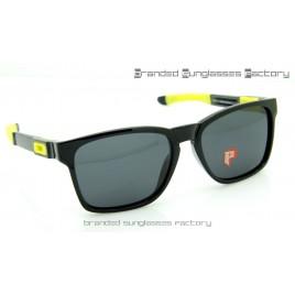 Oakley Catalyst Valentino Rossi VR46 Sunglasses Polished Black Frame Black Lens