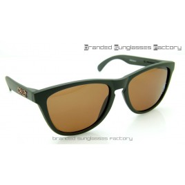 Oakley Frogskins Grenade 55MM Sunglasses Matte Olive Green Frame Brown Lens