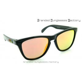 Oakley Frogskins Valentino Rossi VR46 55MM Sunglasses Polished Black Frame Fire Iridium Lens