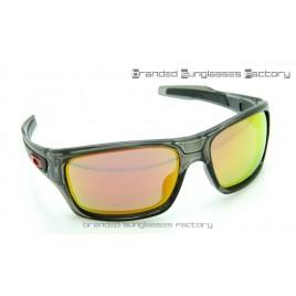 Oakley Turbine Sunglasses Grey Ink Frame Fire Iridium Lens