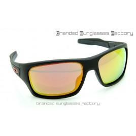 Oakley Turbine Sunglasses Matte Black Frame Fire Iridium Lens