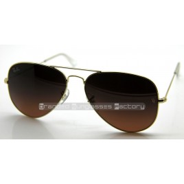 Ray Ban Aviator RB3025 001/3E 58MM Sunglasses Gold Frame Brown Lens