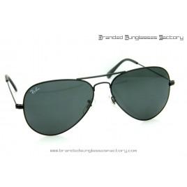 Ray Ban Aviator RB3026 62MM Sunglasses Black Frame Black Lens