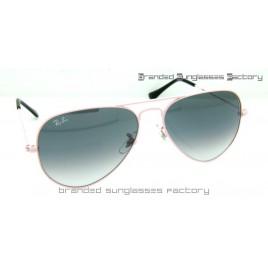Ray Ban Aviator RB3025 58MM Sunglasses Pink Frame Gray Gradient Lens