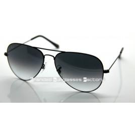 Ray Ban Aviator RB3026 002/32 62MM Sunglasses Black Frame Grey Gradient Lens