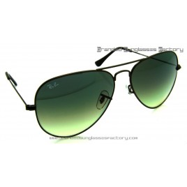 Ray Ban Aviator RB3026 014/2F 62MM Sunglasses Brown Frame Green Gradient Lens