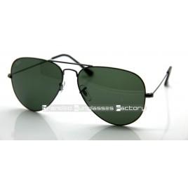 Ray Ban Aviator RB3025 58MM Sunglasses Gunmetal Frame Green G-15 Lens