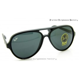 Ray Ban Cats RB4125 59MM Sunglasses Matte Black Frame Black Lens