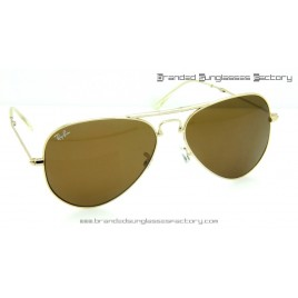 Ray Ban Folding Aviator RB3479 58MM Sunglasses Gold Frame Brown Lens