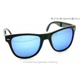 Ray Ban Folding Wayfarer RB4105 601/17 54MM Sunglasses Black Frame Blue Iridium Lens
