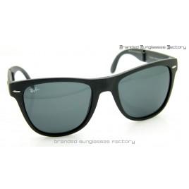 Ray Ban Folding Wayfarer RB4105/601 50MM Sunglasses Matte Black Frame Black Lens