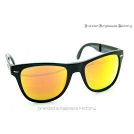 Ray Ban Folding Wayfarer RB4105 601/69 54MM Sunglasses Black Frame Fire Iridium Lens