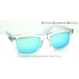 Ray Ban RB2140 Wayfarer 50MM Sunglasses Transparent Frame Turquoise Flash Lens