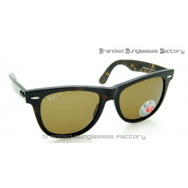 Ray Ban RB2140 Wayfarer Polarized 54MM Sunglasses Tortoise Frame Brown Lens