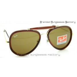 Ray Ban RB3428 Road Spirit Sunglasses Brown Gold Frame Brown Lens 58mm