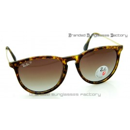 Ray Ban RB4171 Erika 865/13 55MM Polarized Sunglasses Classic Tortoise Brown Frame Brown Gradient Lens