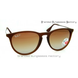 Ray Ban RB4171 Erika 868/13 55MM Polarized Sunglasses Brown Frame Brown Gradient Lens