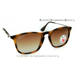 Ray Ban RB4187 Chris 965/13 59MM Polarized Sunglasses Havana Brown Frame Brown Gradient Lens
