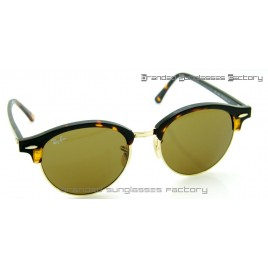 Ray Ban RB4246 Clubround Sunglasses Tortoise Frame Brown Lens 51MM