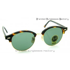Ray Ban RB4246 Clubround Sunglasses Tortoise Frame Green Lens 51MM