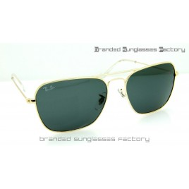 e9f7f85db4d Ray Ban RB3136 Caravan 58MM Sunglasses Gold Frame Black Lens